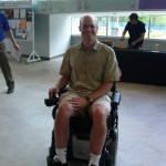 Ben demonstrating a wheelchair