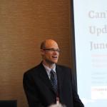 Dr. Ben Mortenson giving a presentation